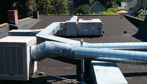 RF Top Commercial Building HVAC